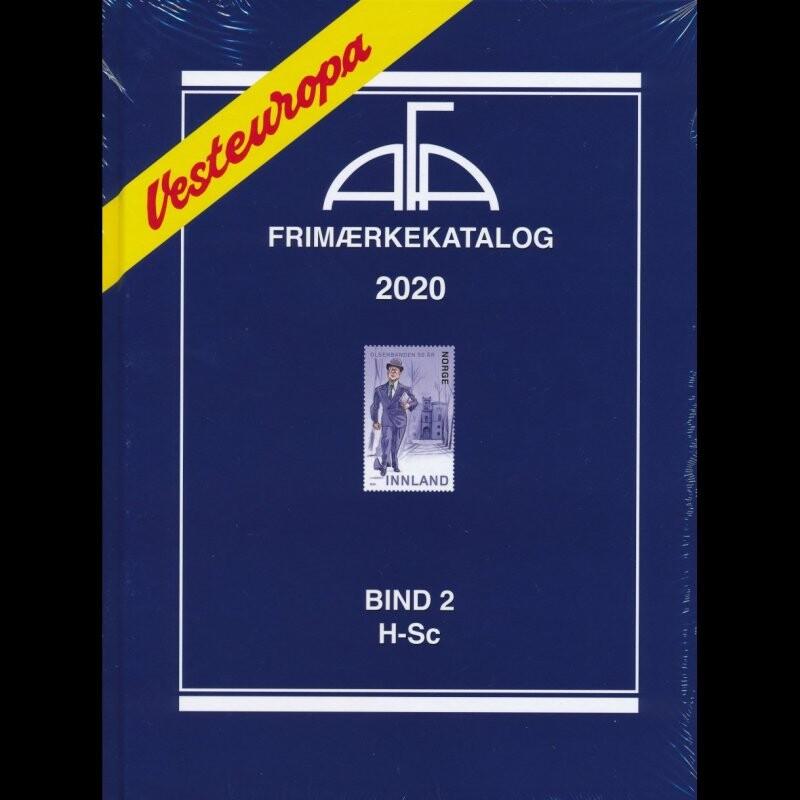 Image of   Afa Frimærkekatalog Vesteuropa 2020 - Bind 2 - Diverse - Bog