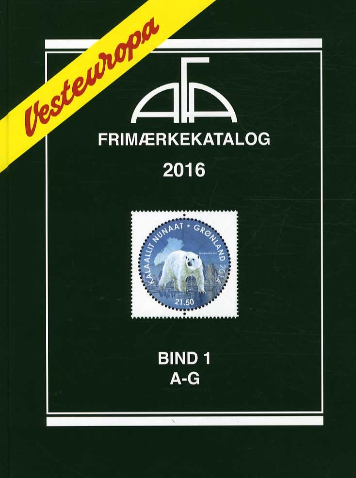 Image of   Afa Frimærkekatalog 2016 - Vesteuropa Bind 1 - A-g - Bog
