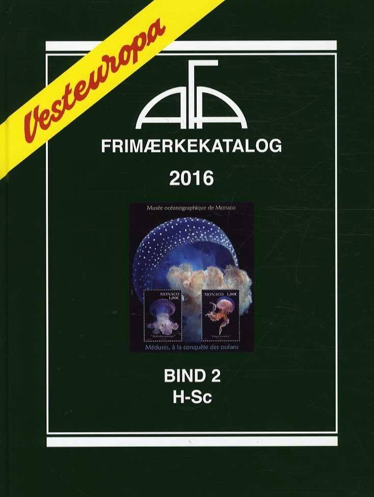 Image of   Afa Frimærkekatalog 2016 - Vesteuropa Bind 2 - H-sc - Diverse - Bog