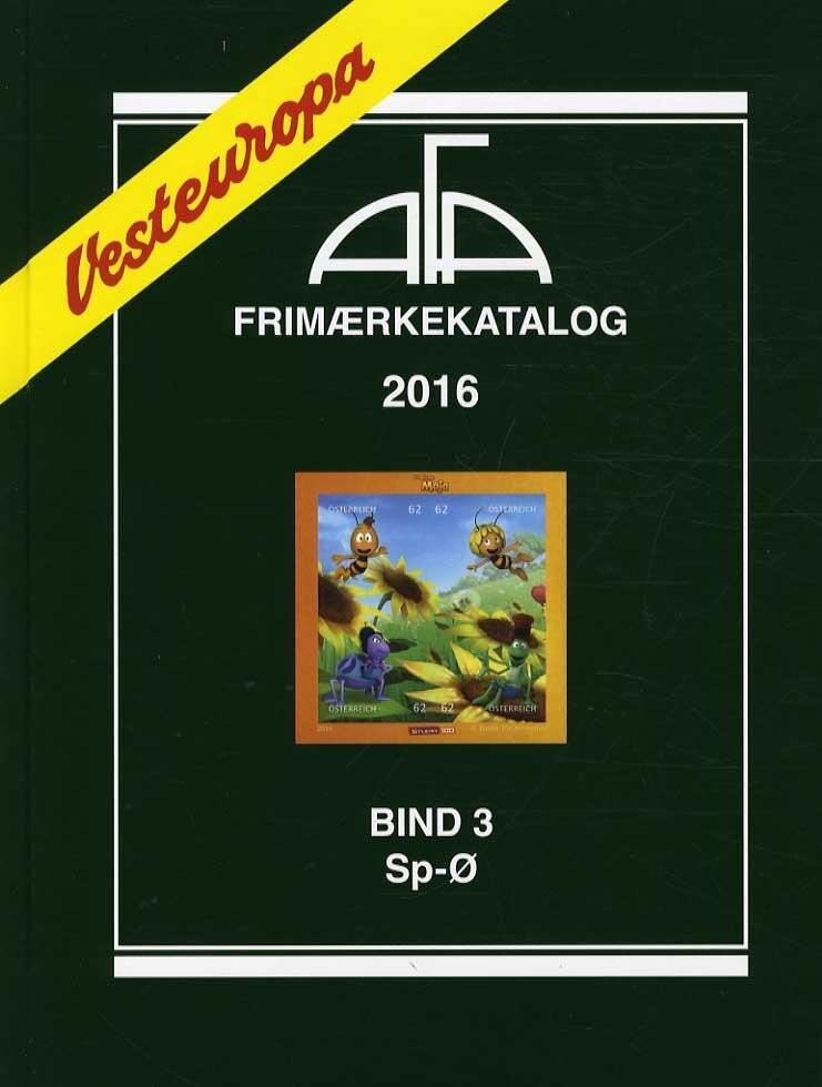 Image of   Afa Frimærkekatalog 2016 - Vesteuropa Bind 3 - Sp-ø - Diverse - Bog
