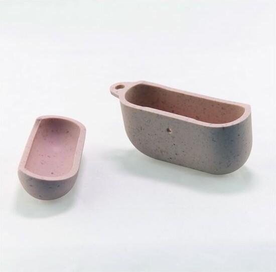 Image of   Airpod Case Cover - Miljøvenligt Etui I Hvede - Pink