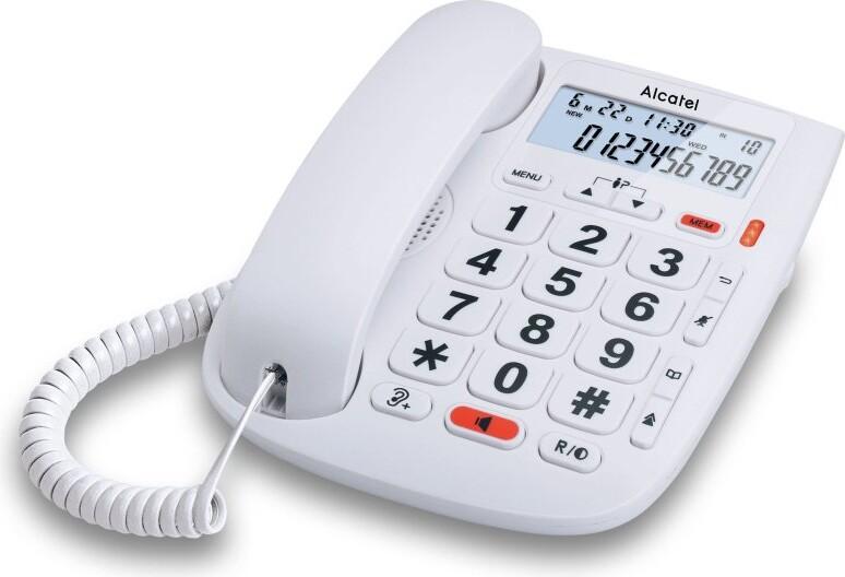 Image of   Alcatel T Max 20 - Fastnet Telefon Til ældre - Hvid