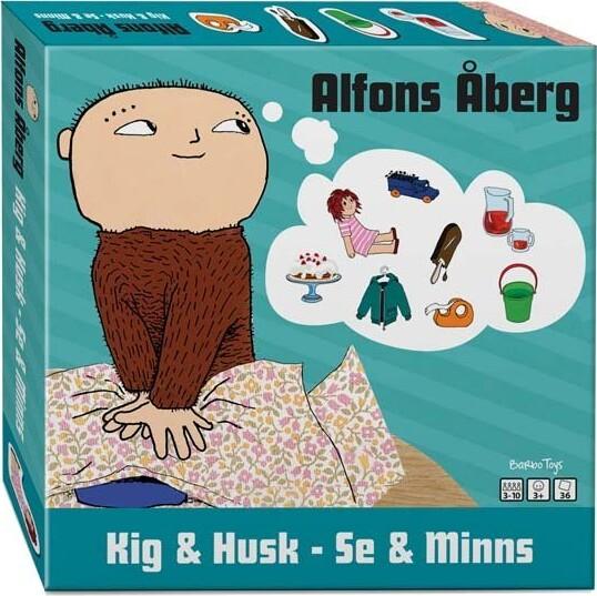 Image of Alfons åberg - Kig & Husk - Huskespil Sæt Med 36 Brikker