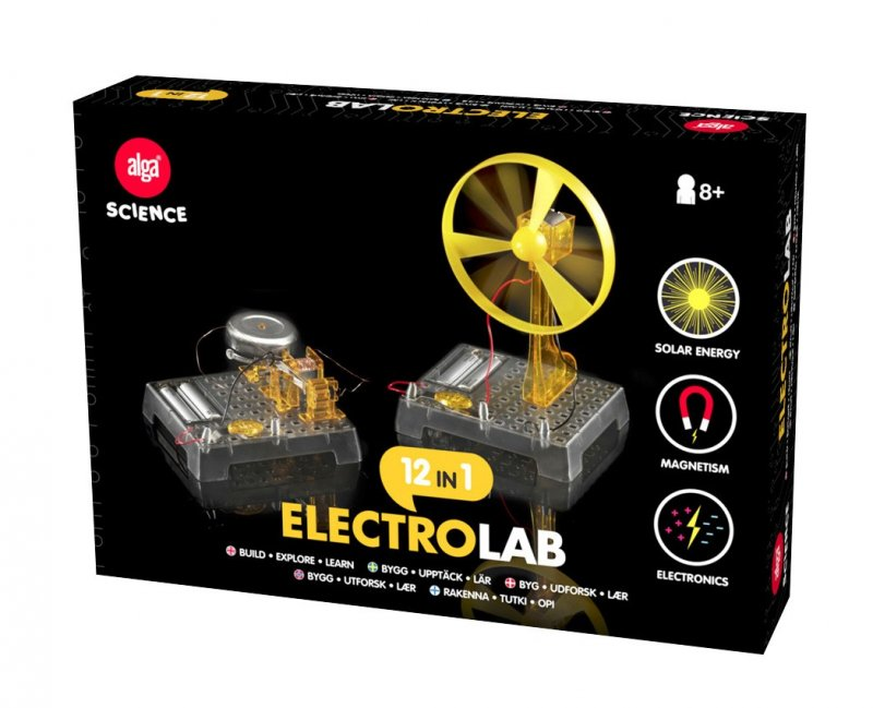 electro lab, alga spil, læringsspil, videnskab, lær videnskab, lav eksperimenter, børnespil, spil til børn, Eksperimentér med fysik