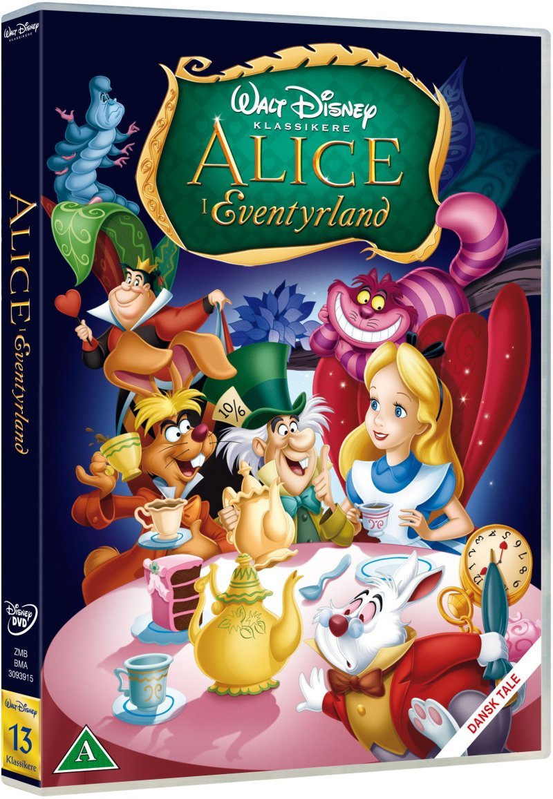 Image of   Alice In Wonderland / Alice I Eventyrland - 60 års Jubilæumsudgave - Disney - DVD - Film