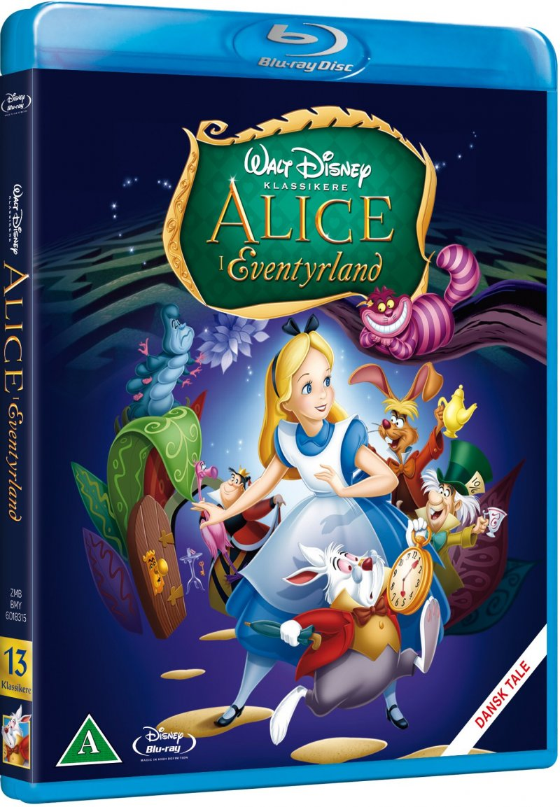 Image of   Alice In Wonderland / Alice I Eventyrland - Disney - Blu-Ray