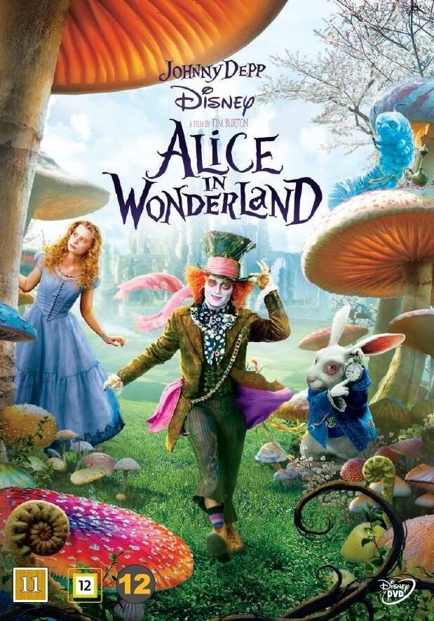 Image of   Alice In Wonderland / Alice I Eventyrland - Johnny Depp - Disney - DVD - Film