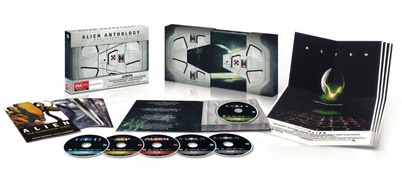 Image of   Alien Box - 1-4 - Nostromo Space Doors Boks Set - Blu-Ray