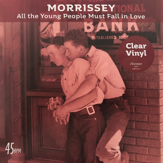 "Image of   Morrissey - All The Young People Must Fall In Love - 7"" - Vinyl / LP"