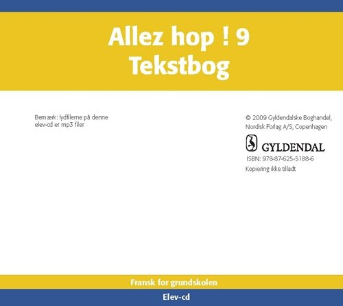 Billede af Allez Hop ! 9 - Jette Rosenberg - Bog