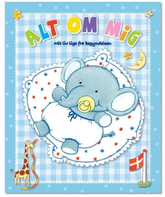 Image of   Alt Om Mig - Lyseblå - Dina Gellert - Bog