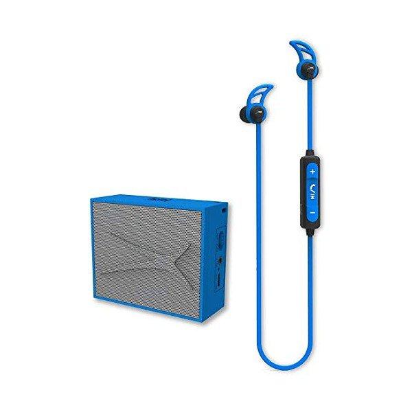 Image of   Altec Lansing - Trådløs Bluetooth Højtaler Og Høretelefoner Sæt - Blå