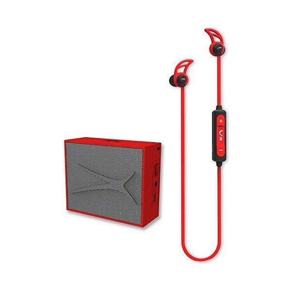Image of   Altec Lansing - Trådløs Bluetooth Højtaler Og Høretelefoner Sæt - Rød