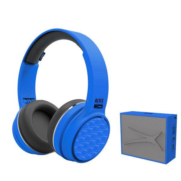 Image of   Altec Lansing - Trådløs Bluetooth Høretelefoner Og Højtaler Sæt - Blå