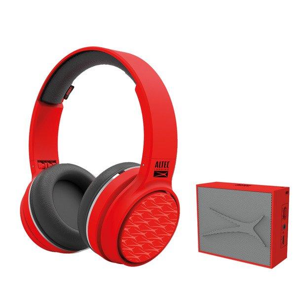 Image of   Altec Lansing - Trådløs Bluetooth Høretelefoner Og Højtaler Sæt - Rød