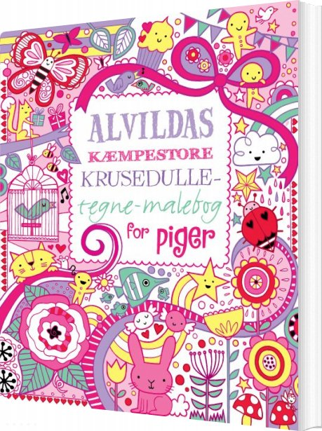 Image of   Alvildas Kæmpestore Krusedulle-tegne-malebog For Piger - James Maclaine - Bog