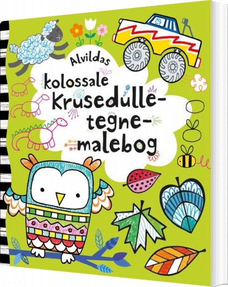 Image of   Alvildas Kolossale Krusedulle-tegne-malebog - Bog