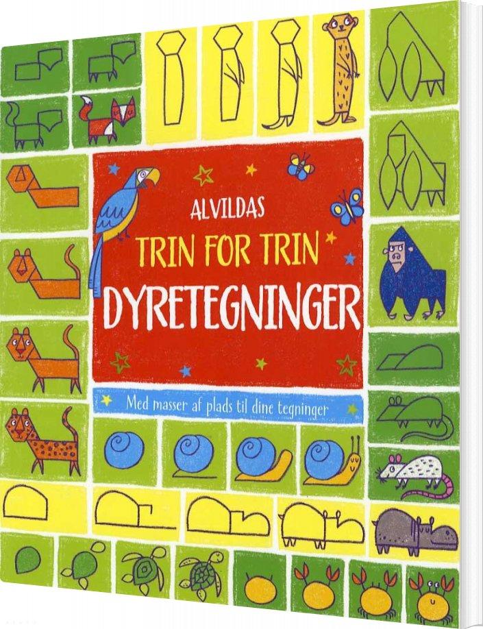 Image of   Alvildas Trin For Trin-dyretegninger - Diverse - Bog