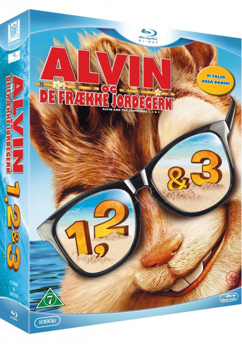 Image of   Alvin Og De Frække Jordegern 1-3 / Alvin And The Chipmunks 1-3 - Blu-Ray