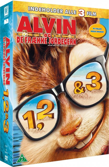 Image of   Alvin Og De Frække Jordegern 1-3 / Alvin And The Chipmunks 1-3 - DVD - Film