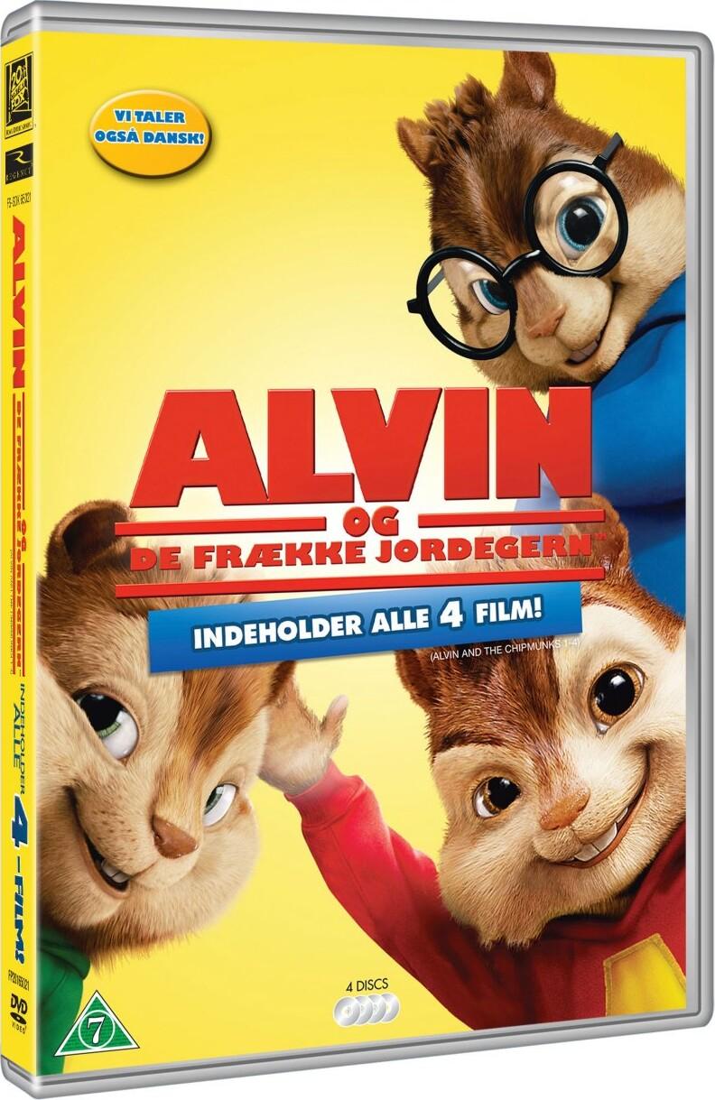 Billede af Alvin Og De Frække Jordegern 1-4 / Alvin And The Chipmunks 1-4 - DVD - Film