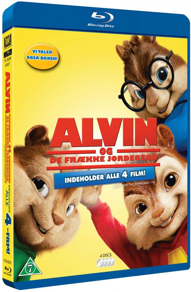 Image of   Alvin Og De Frække Jordegern 1-4 / Alvin And The Chipmunks 1-4 - Blu-Ray