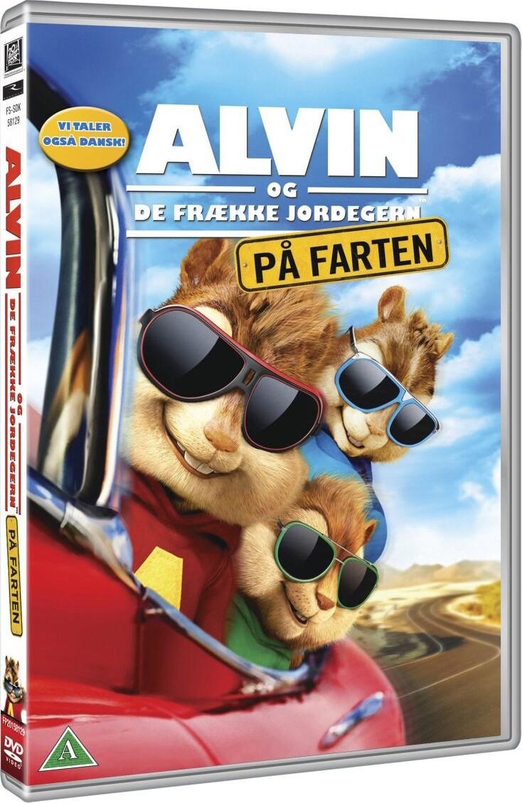 Image of   Alvin Og De Frække Jordegern 4 - På Farten - DVD - Film