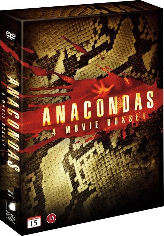 Image of   Anaconda Film Boks - Anaconda 1 // Anaconda 2 // Anaconda 3 // Anaconda 4 - DVD - Film