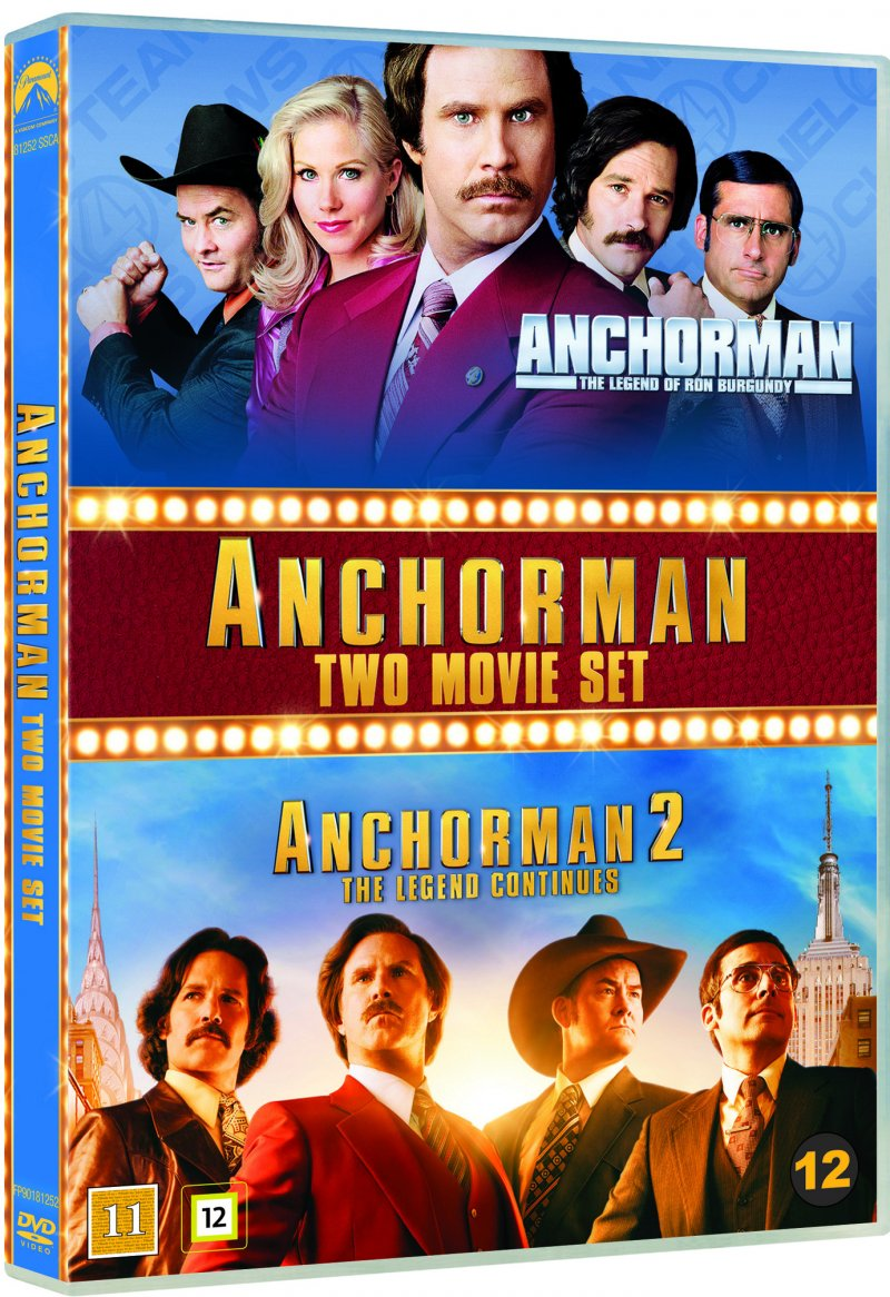 Image of   Anchorman - The Legend Of Ron Burgundy // Anchorman 2 - The Legend Continues - DVD - Film