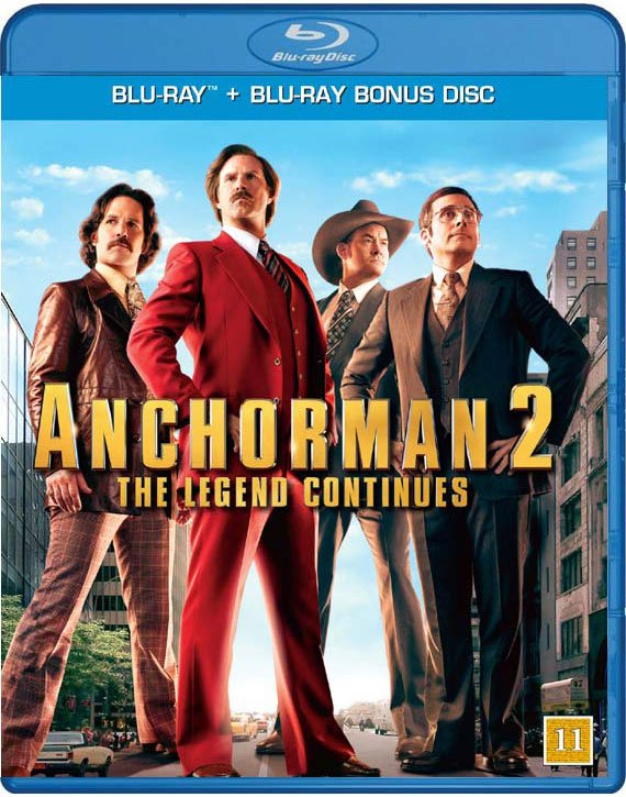 Image of   Anchorman 2: The Legend Continues - Blu-Ray