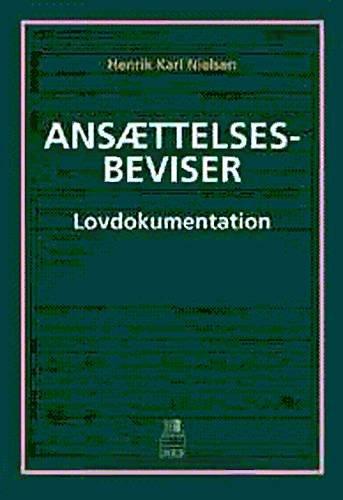 Image of   Ansættelsesbeviser - Lovdokumentation - Henrik Karl Nielsen - Bog