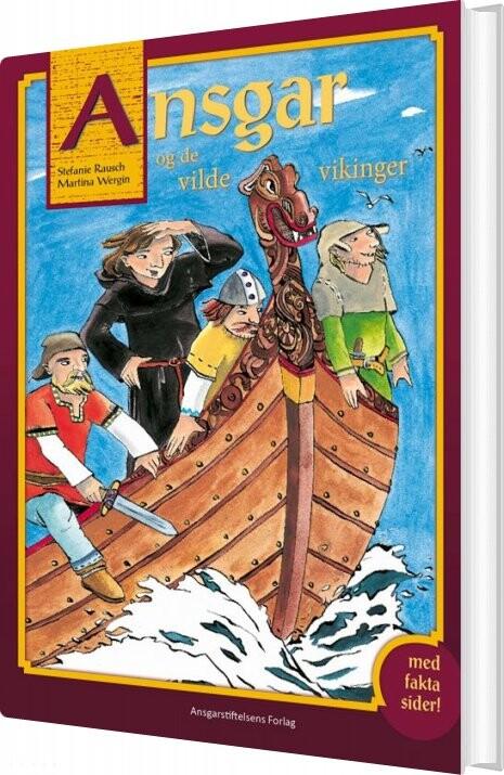 Image of   Ansgar Og De Vilde Vikinger - Martina Wergin - Bog