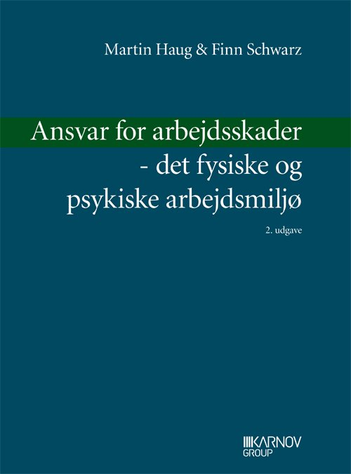 Image of   Ansvar For Arbejdsskader - Det Fysiske Og Psykiske Arbejdsmiljø - Finn Schwarz - Bog