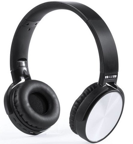Image of   Antonio Miró - Foldbare Høretelefoner Med Bluetooth Og Fm Radio - Sølv