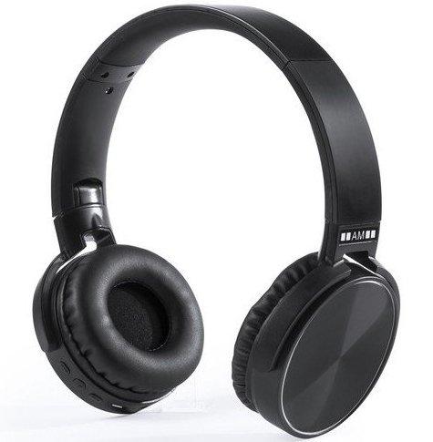 Image of   Antonio Miró - Foldbare Høretelefoner Med Bluetooth Og Fm Radio - Sort