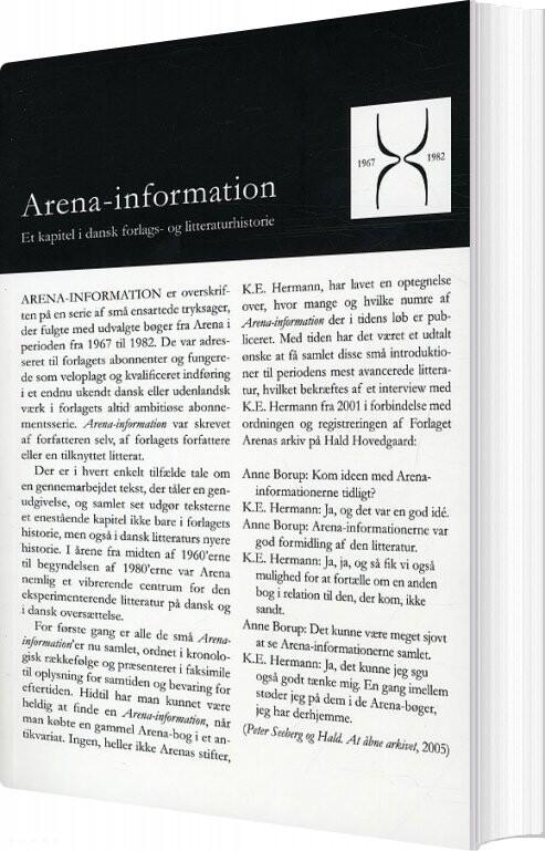 Image of   Arena-information 1967-1982 - Bog