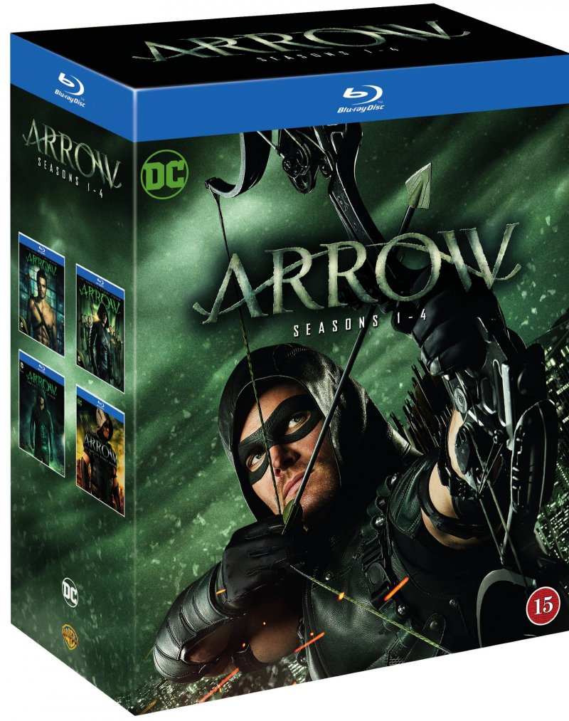 Arrow - Sæson 1-4 - Blu-Ray - Tv-serie