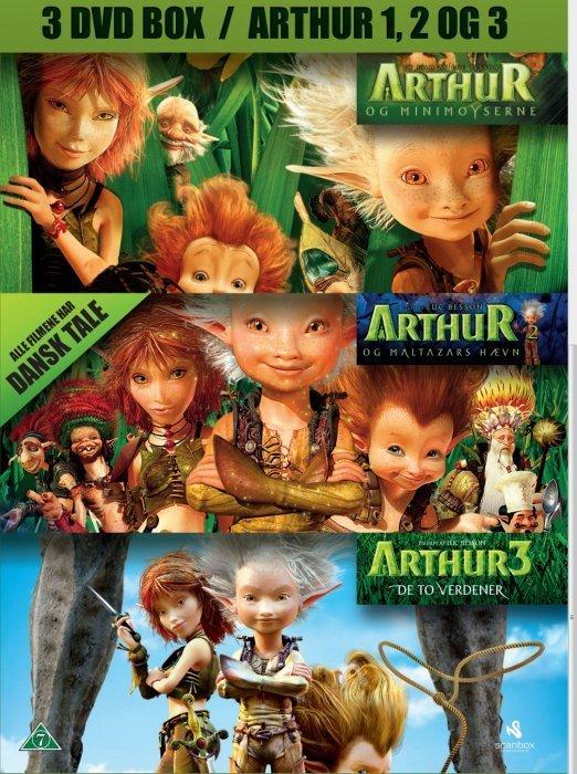 Image of   Arthur Og Minimoyserne // Arthur Og Maltazars Hævn // Arthur 3 - De To Verdener - DVD - Film
