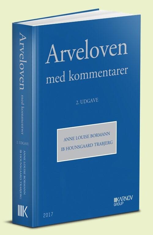 Image of   Arveloven Med Kommentarer - Anne Louise Bormann - Bog