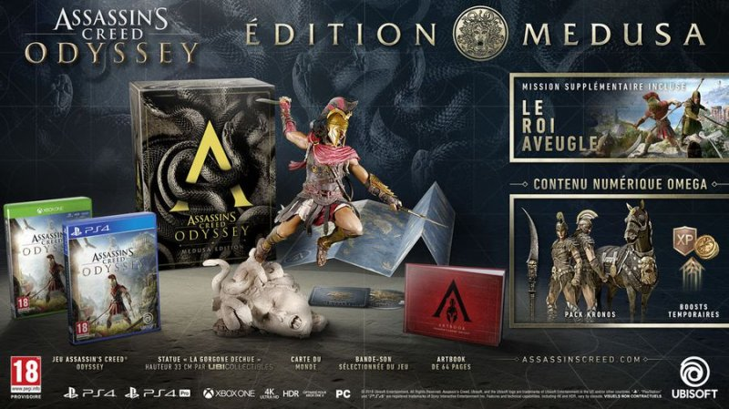 Assassins Creed: Odyssey Medusa - Collectors Edition - PS4