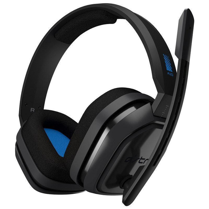 Image of   Astro - A10 Gaming Headset Til Ps4, Xbox, Switch Og Pc - Grå Blå