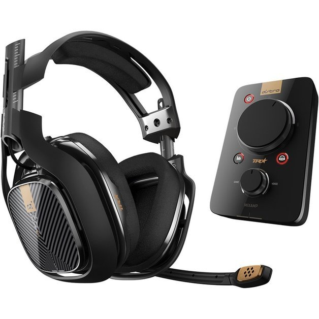Image of   Astro - A40 Tr Inkl. Mixamp Pro Tr - 7.1 Gaming Headset Til Ps4 Til Pc - Sort