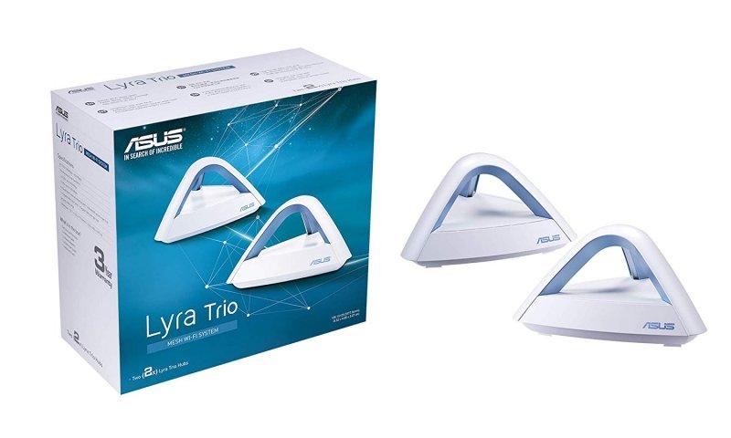 Image of   Asus Lyra Trio Mesh Wifi System Ac1750 1300 Mbps Dual Band - 2-pak