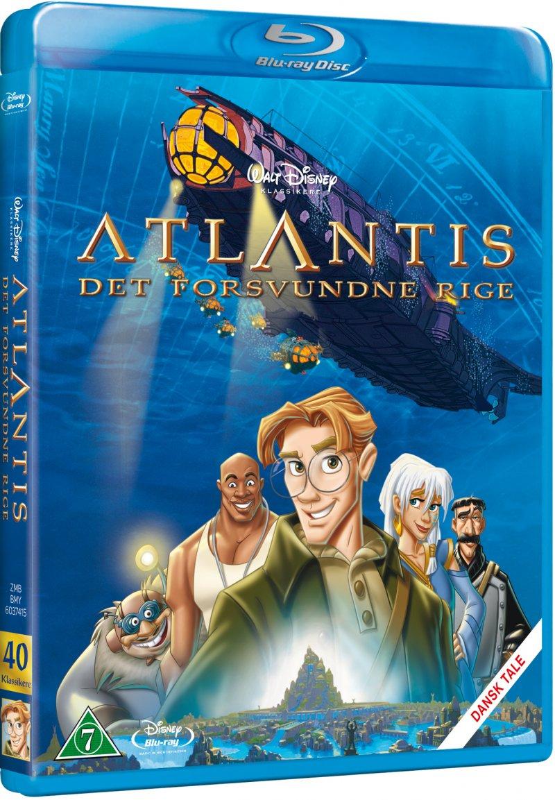 Image of   Atlantis The Lost Empire / Det Forsvundne Rige - Disney - Blu-Ray