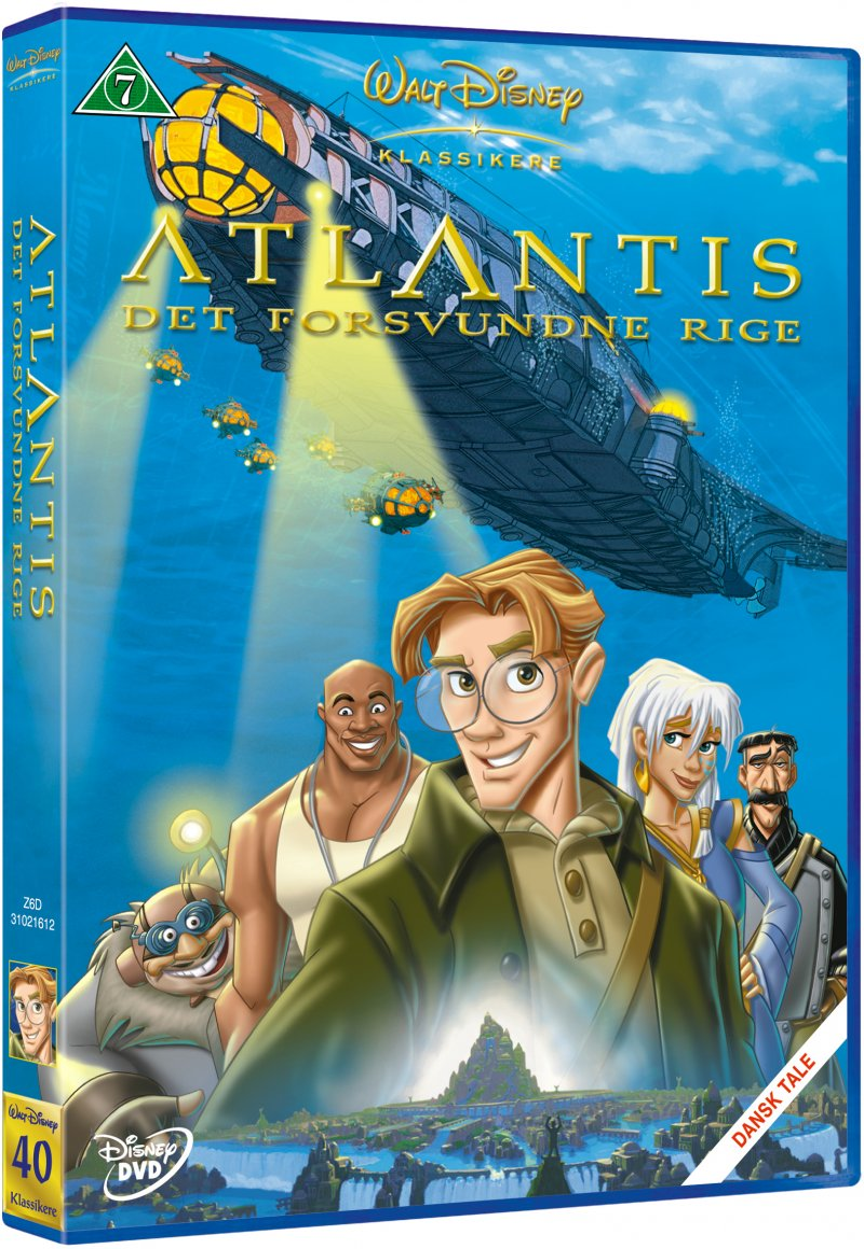 Image of   Atlantis The Lost Empire / Det Forsvundne Rige - Disney - DVD - Film