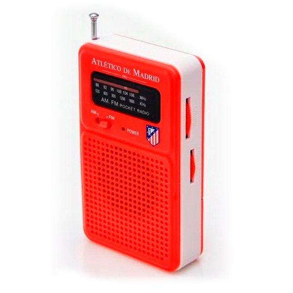 Image of   Atlético Madrid - Transistorradio - Am Og Fm Radio - Rød Hvid