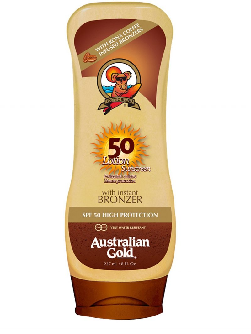 Image of   Australian Gold Solcreme - Lotion Sunscreen With Bronzer - Spf50 237 Ml