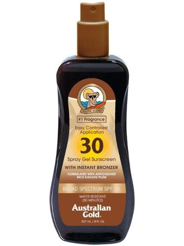 Image of   Australian Gold Solcreme - Spray Gel With Instant Bronzer Spf30 237 Ml