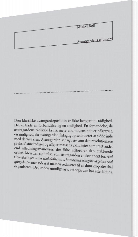 Billede af Avantgardens Selvmord - Mikkel Bolt - Bog