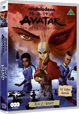 Image of   Avatar The Last Airbender / Den Sidste Luftbetvinger - Bog 1 Vand - DVD - Film
